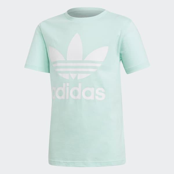 Trefoil T-shirt turquois DH2473