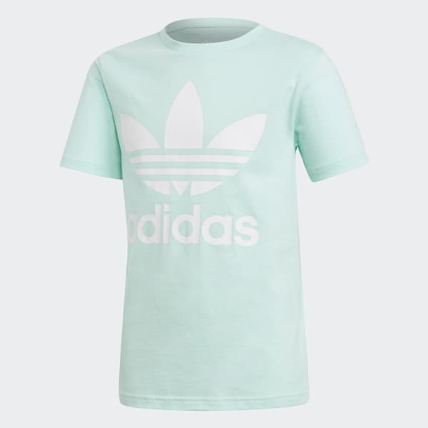 Trefoil Tee Turquoise DH2473
