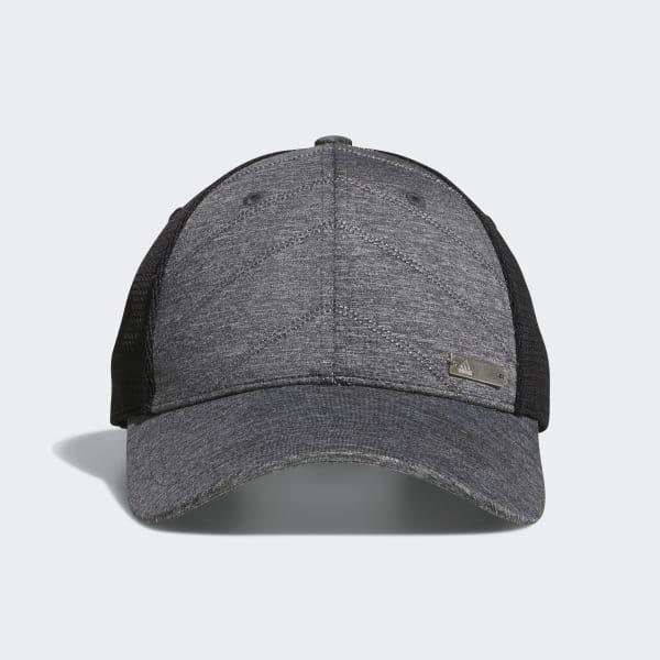 Quilted Mesh-Back Hat Black CZ0220