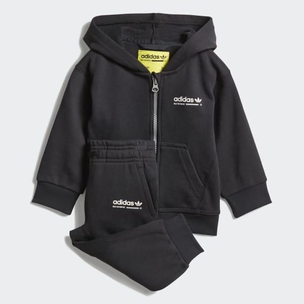 Conjunto chaqueta con capucha y pantalón Kaval Negro DH3229