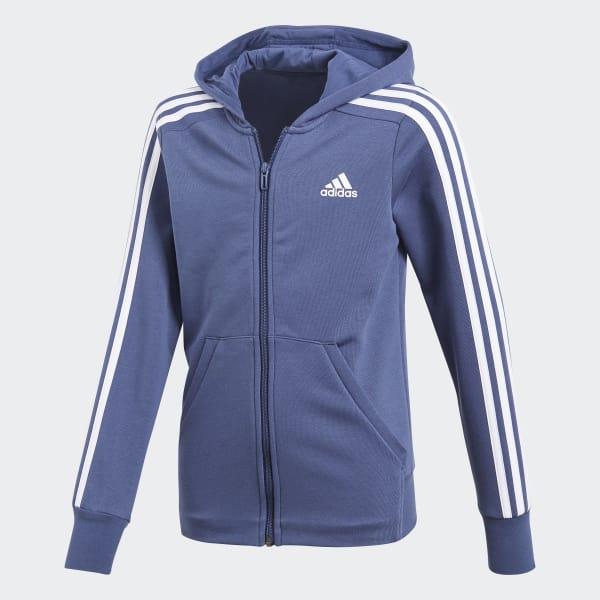 Essentials 3-Stripes Hoodie blauw CF7287