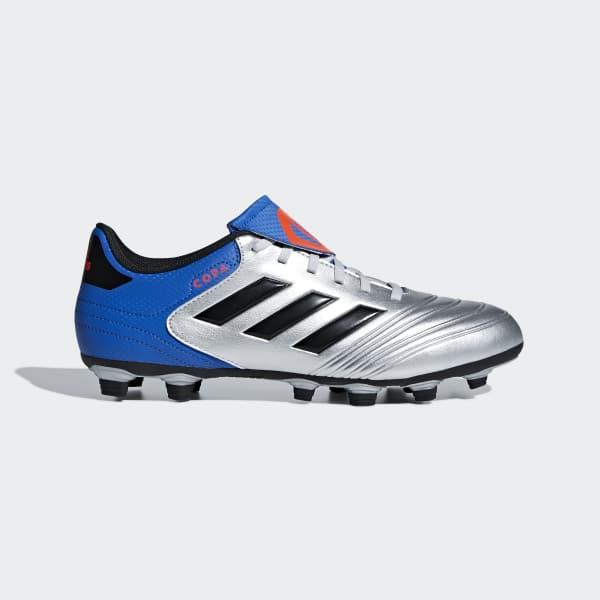 Calzado de Fútbol Copa 18.4 Multiterreno Plata DB2458