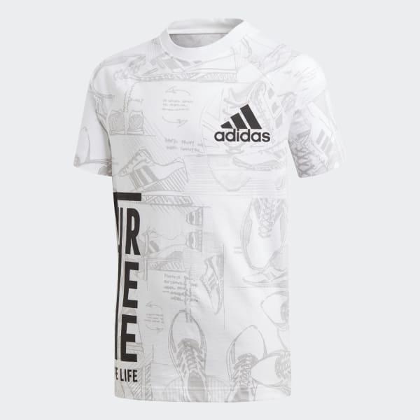 ID Print T-Shirt weiß DJ1441