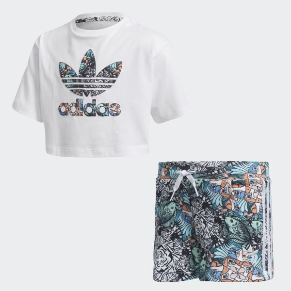 Zoo Shorts and Tee Set White DH2232