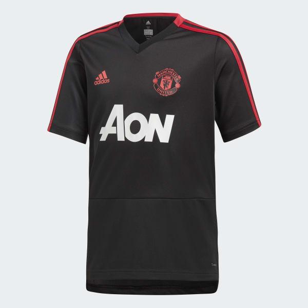 Manchester United Training Shirt zwart CW7611