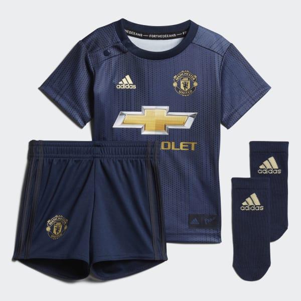 Kit bébés Manchester United Third bleu DP6019
