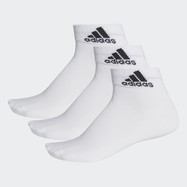 Performance dünne Knöchelsocken, 3 Paar weiß AA2320