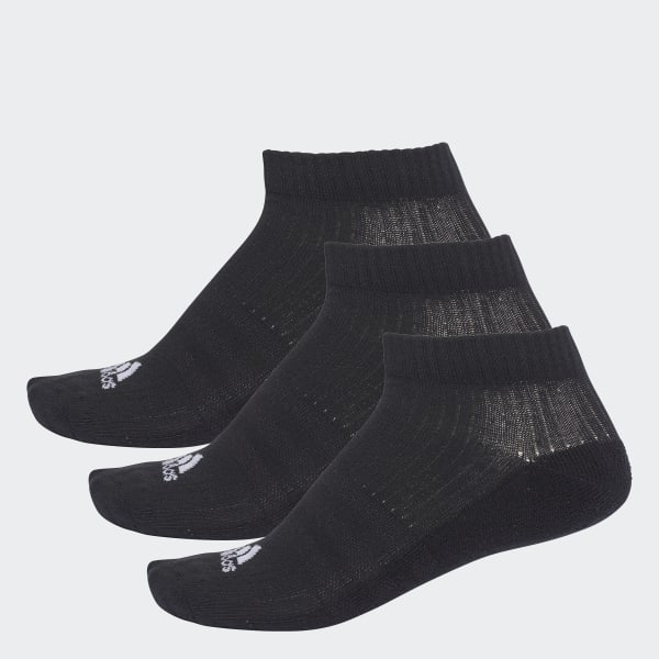 3-Stripes No-Show Socks 3 Pairs Black AA2280