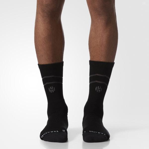 James Harden Crew Socks 1 Pair Black BK3060