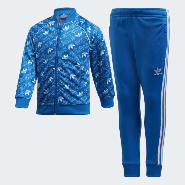 Monogram Trefoil SST Trainingsanzug blau D98863