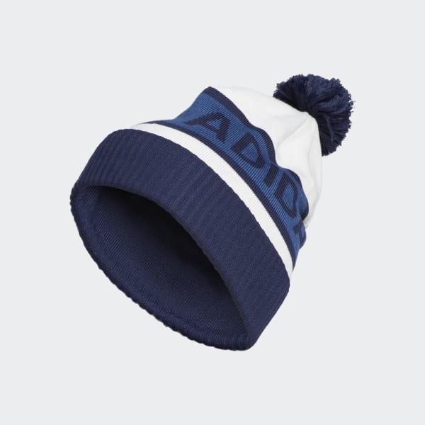 Pompon Beanie blauw DN3324