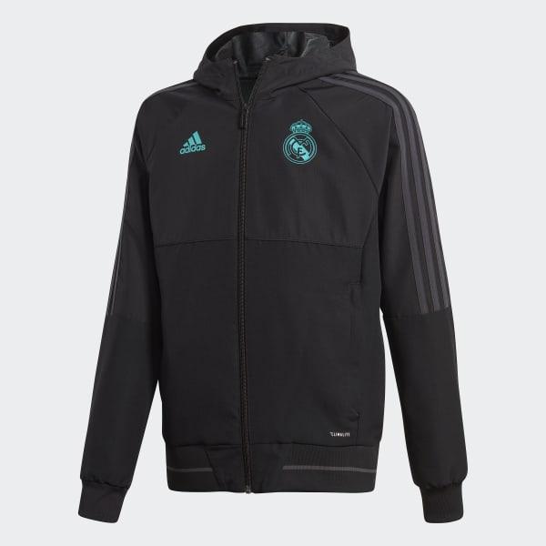 Chaqueta con capucha Presentación Real Madrid Negro BQ7876