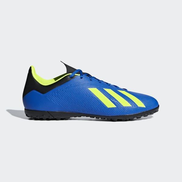 Calzado de Fútbol X Tango 18.4 Pasto Sintético FOOTBALL BLUE/SOLAR YELLOW/CORE BLACK DB2477