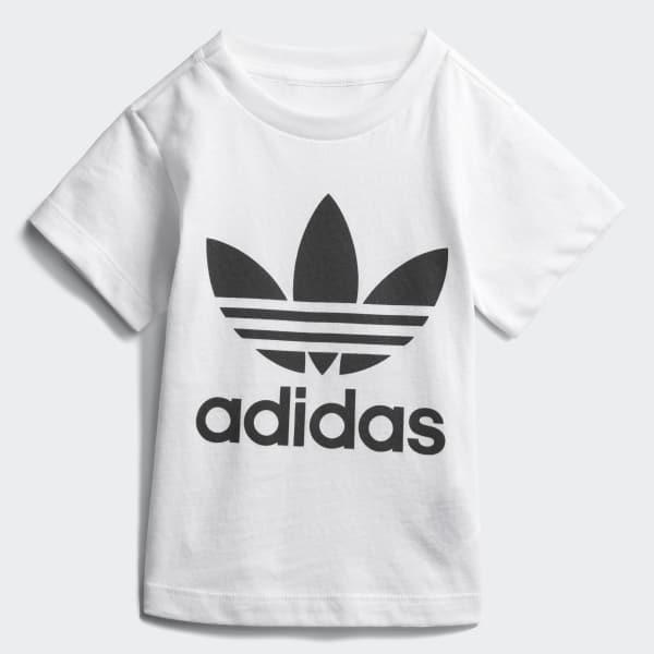 Trefoil T-shirt wit CE4316