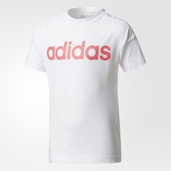 Little Kids Linear T-Shirt weiß CE9867