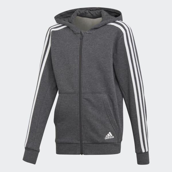 Essentials 3-Stripes Hoodie Grey DJ1747