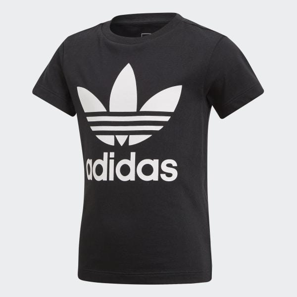 Camiseta Trefoil Negro CD8439