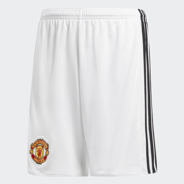 Manchester United Home Replica Shorts White AZ7579