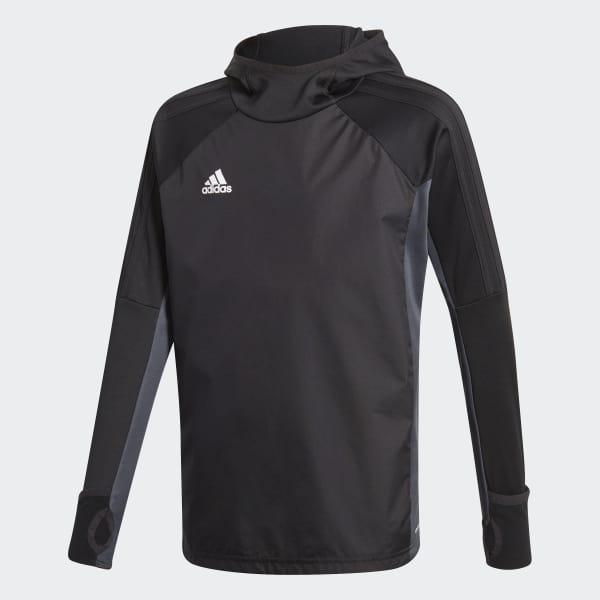 Tiro 17 Warm Kapuzensweatshirt schwarz AY2868