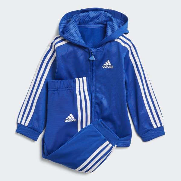 Shiny Hooded Jogginganzug blau DJ1579