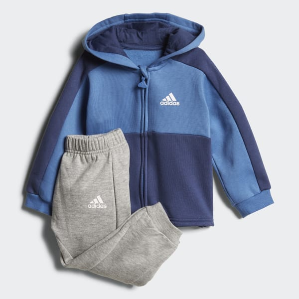 Linear Hoodie Fleece Jogger Blue CF7404
