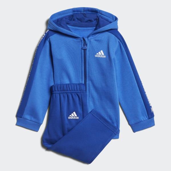 Linear Hooded Fleece Joggingpak blauw DJ1545