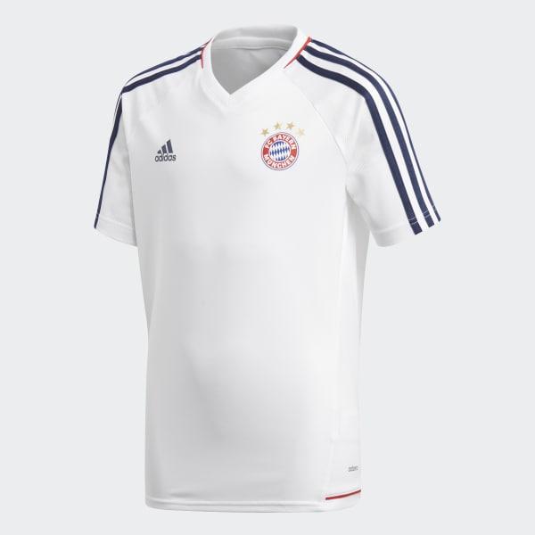 FC Bayern München Authentiek Trainingsshirt wit BQ4597