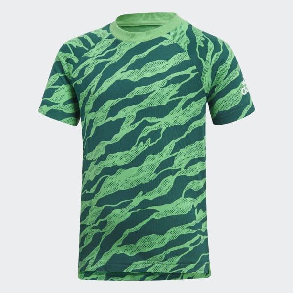 Katoenen T-shirt groen DJ1520