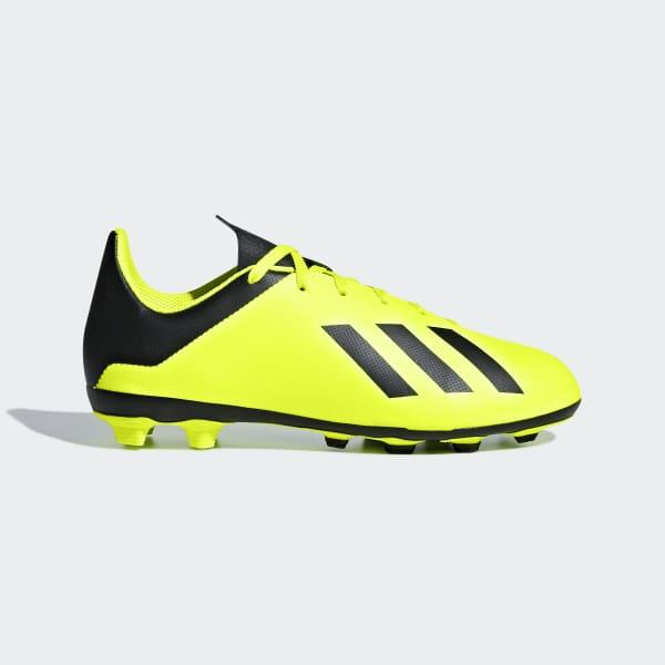 Calzado de fútbol X 18.4 Multiterreno Niño Amarillo DB2420