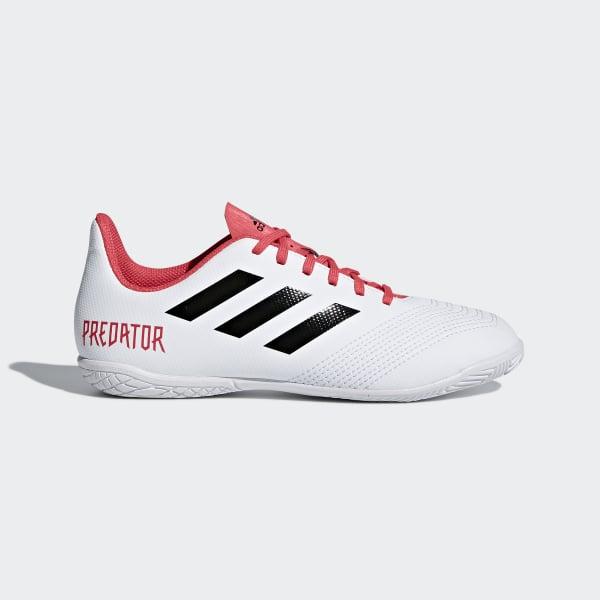 Chuteira Predator 18.4 Futsal Infantil Branco CP9103