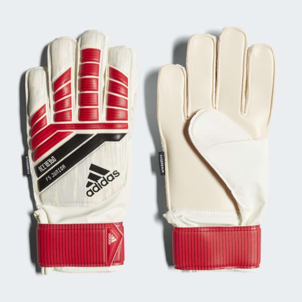 Predator 18 Fingersave Junior Gloves Red CF1362