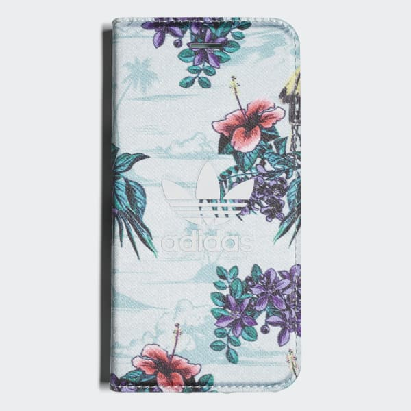 Floral Booklet Case iPhone 8 Blue CJ8326