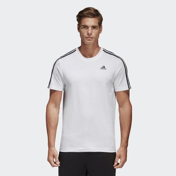 Camiseta Essentials Classics 3 bandas Blanco S98716