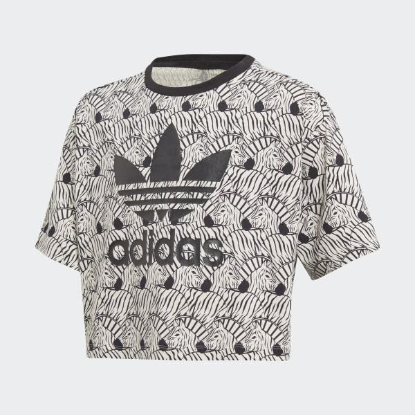 Camiseta Zebra Crop Beige D98913