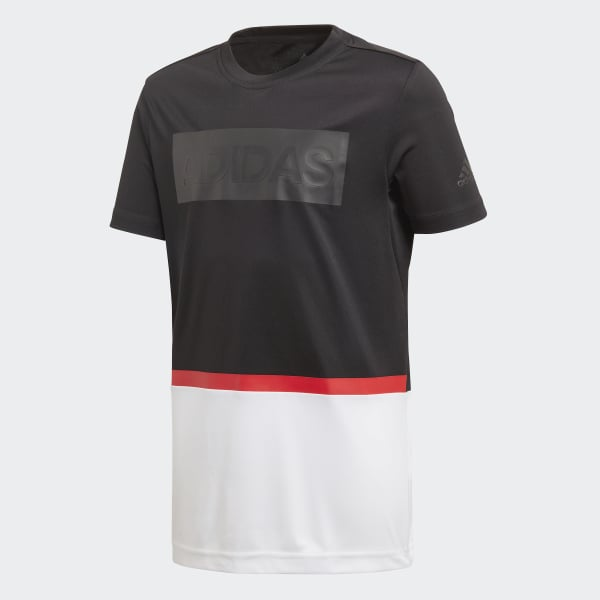 Camiseta Training Colorblocked Negro DJ1164