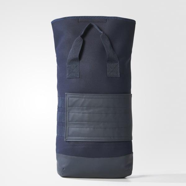Roll-Top Rucksack blau BQ8139