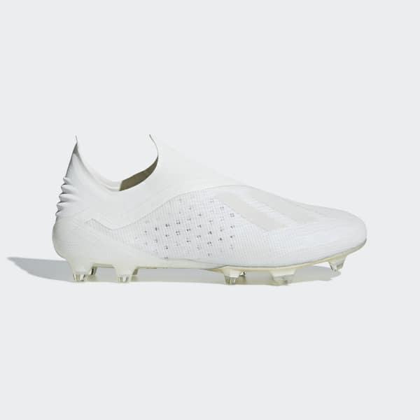 Bota de fútbol X 18+ césped natural seco Blanco DB2217