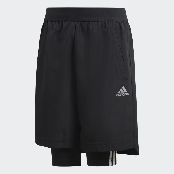 Football Two-in-One Shorts schwarz DJ1256