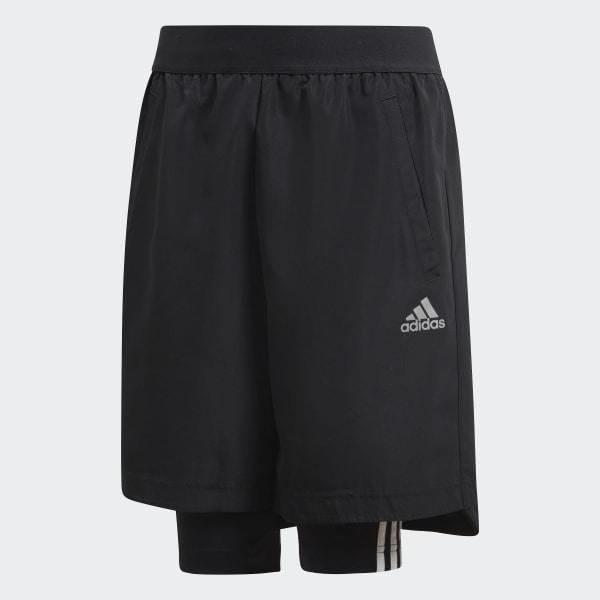 Shorts Fútbol Dos-en-Uno Negro DJ1256