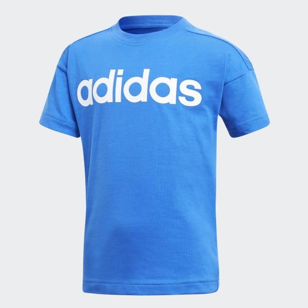 Little Kids Linear T-shirt blauw CF6620