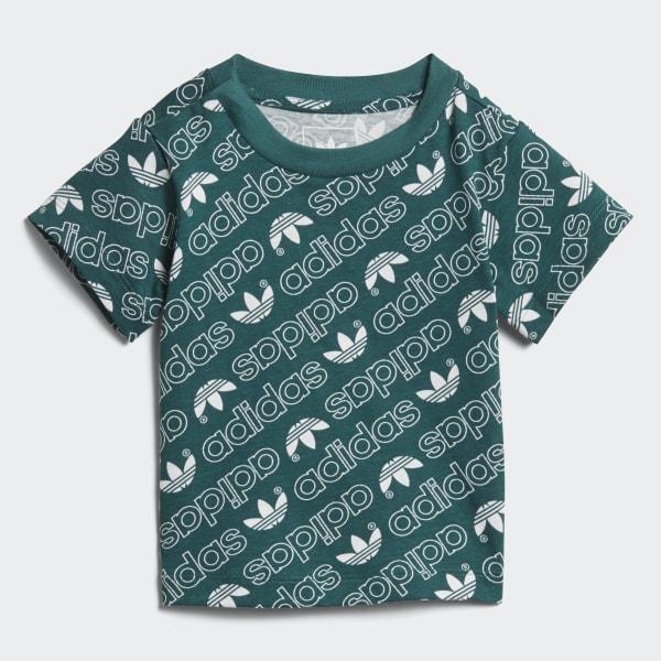 T-shirt Trefoil Monogram Verde DN8164