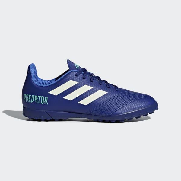 Zapatos de Fútbol Predator Tango 18.4 Césped Artificial Azul CP9097