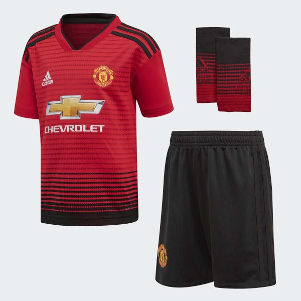 Miniconjunto primera equipación Manchester United Rojo CG0058