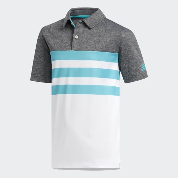 3-Streifen Poloshirt türkis DM7480