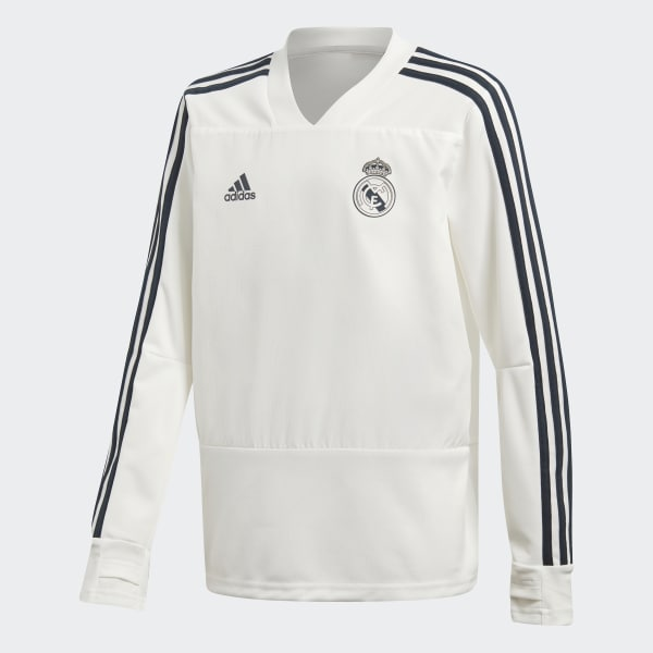 Haut d'entraînement Real Madrid blanc CW8665