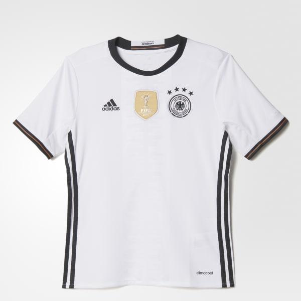 Camiseta primera equipación Alemania UEFA EURO 2016 Réplica Blanco AA0138