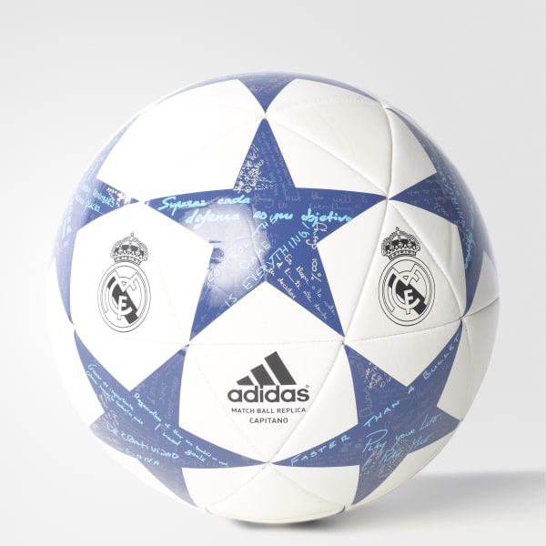 Pallone Finale 16 Capitano Real Madrid Bianco AP0390