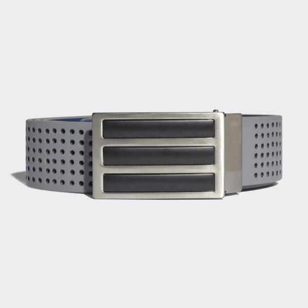 3-Stripes Geperforeerde Dubbelzijdige Riem grijs CG2636