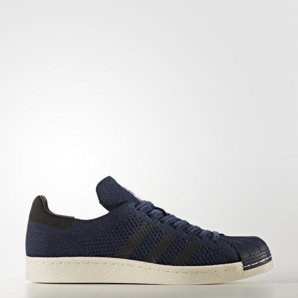 Chaussure Superstar 80s Primeknit bleu BZ0126