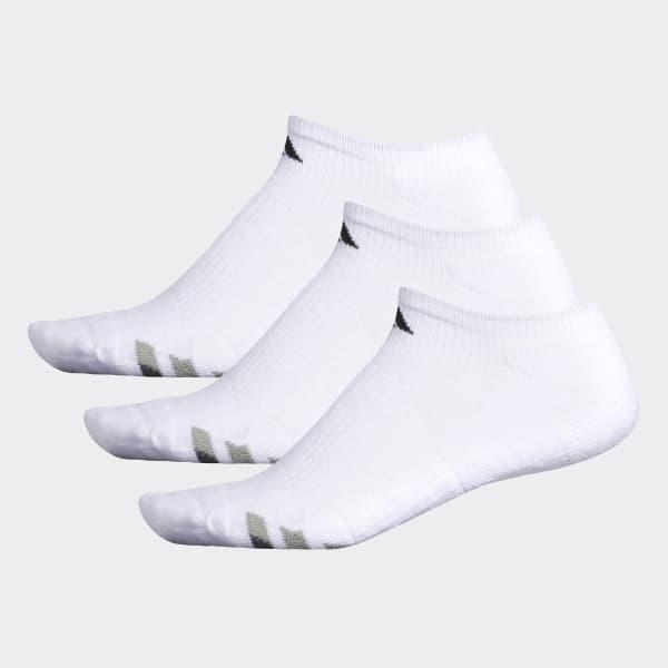Cushioned No-Show Socks 3 Pairs White H77465